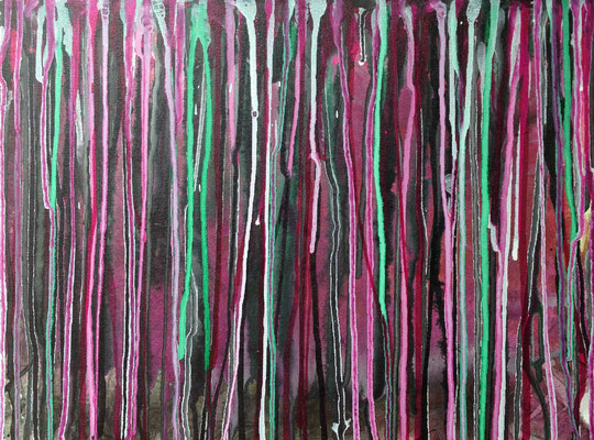 purple rain, 30*40 cm, Acryl und Tusche auf Leinwand, rahmenlos aufhängbar, datiert, signiert, Unikat, 240 €