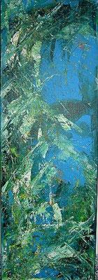 freshness, 30*90 cm, Acryl auf Leinwand,  rahmenlos aufhängbar, datiert, signiert, Unikat, 350 €