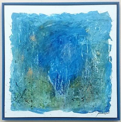 heart of ocean, 80*80 cm, Acryl auf Leinwand,  inkl. Schattenfugenrahmen, datiert, signiert, Unikat, 580 €
