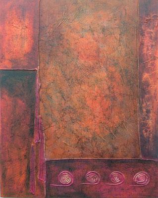 Eruption, 80*100 cm, Acryl auf Leinwand,  rahmenlos aufhängbar, datiert, signiert, Unikat, 680 €