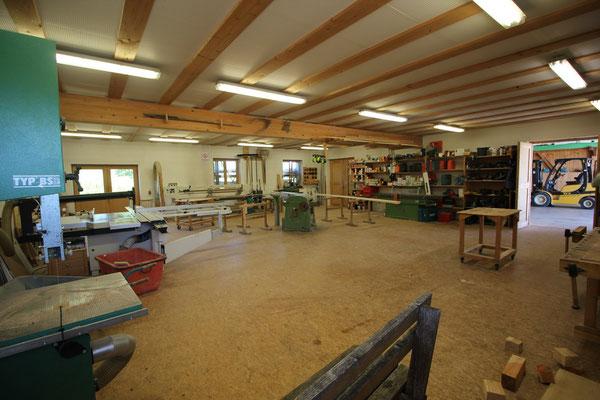 Die Werkstatt der Zimmerei Peter Holzer
