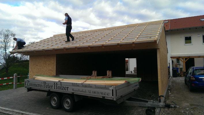 Bau einer Garage