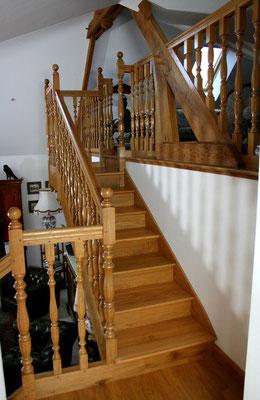 escalier de style en bois