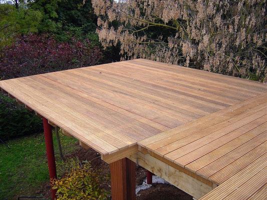 avancée terrasse bois