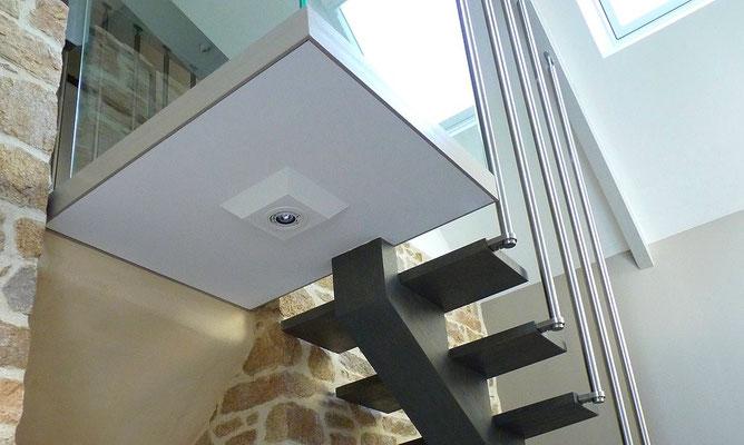 escalier design métal