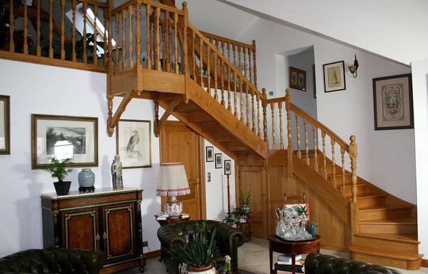 escalier de style bois