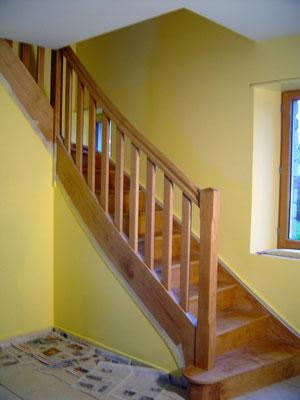 escalier bois contemporain