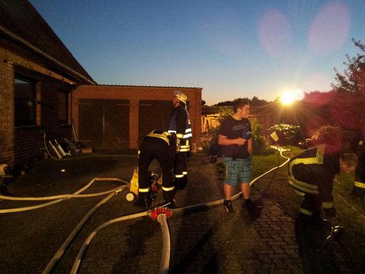 Übung mit der Wärmebildkamera in Bliestorf, 05.09.2013
