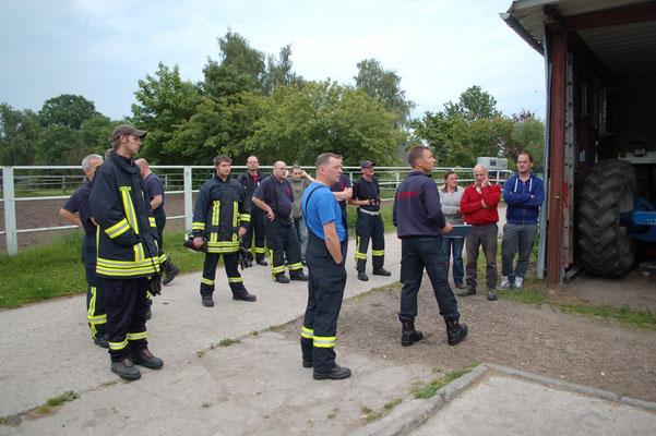 Übung auf dem Trakehnerhof, 07.06.2012