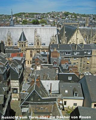 Vue sur les toits de Rouen