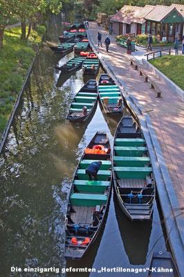 Les barques typiques des Hortillonages d'Amiens