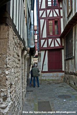 L'une des ruelles étroites typiques de la vieille ville