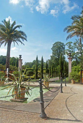 Der als Barockgarten gestaltete Teil des Kurparks.