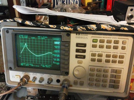 banda passante cavità + preamplificatore. Manca il filtro ad elica in uscita