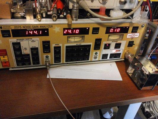 misura guadagno e rumore, compreso filtro in uscita