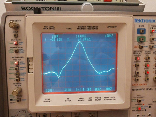 -55dB @ 171 MHz Output cavity LNA 144 MHz