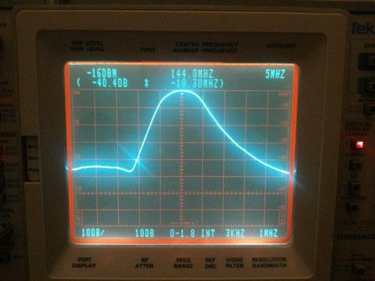 banda passante del solo filtro ad elica. -40dB @ 134 MHz!