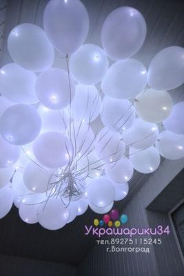 белые шары с белым диодом