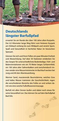 Bad Orb Barfusspfad - Flyer