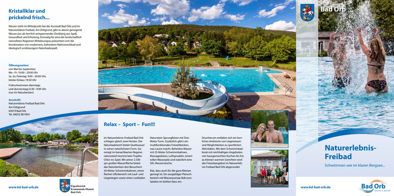 Flyer Freibad Bad Orb