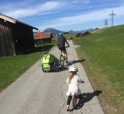 Radfahren über die Buckelwiesen