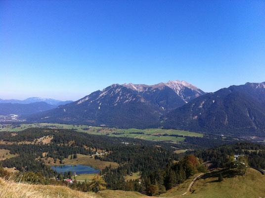 Blick vom Hohen Kranzberg auf den Luttensee