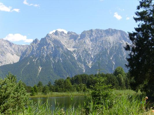 Luttensee mit Blick auf den Karwendel