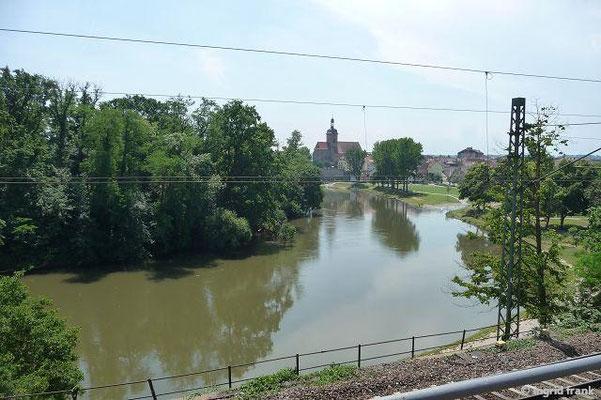 Mündung der Zaber in den Neckar bei Lauffen