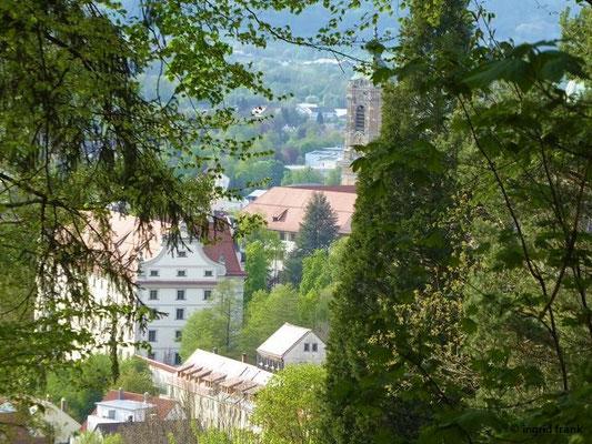 Blick auf das Kloster Weingarten