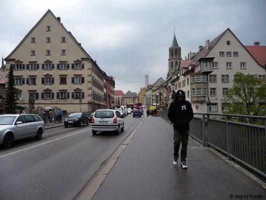 Blick von der Hochbrücke in die Innenstadt
