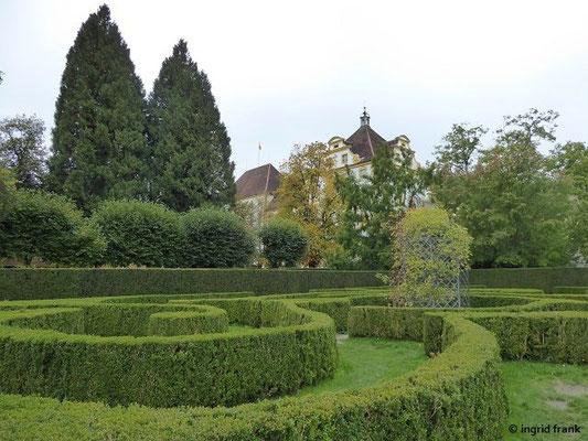 Hofgarten - Blick über das Labyrinth zur Prälatur