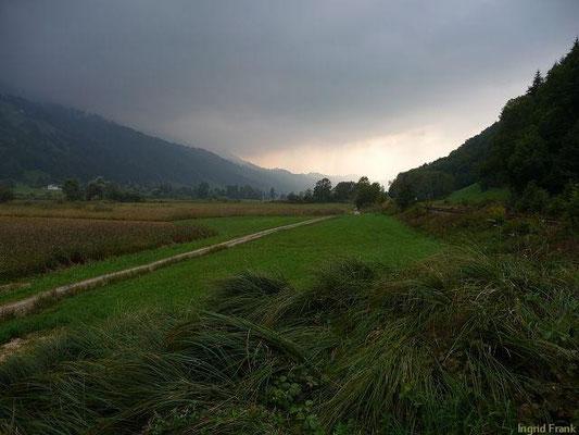 Blick vom Großen Alpsee Richtung Oberstaufen
