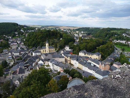 Bad Lobenstein, Blick vom Burgberg auf die Altstadt