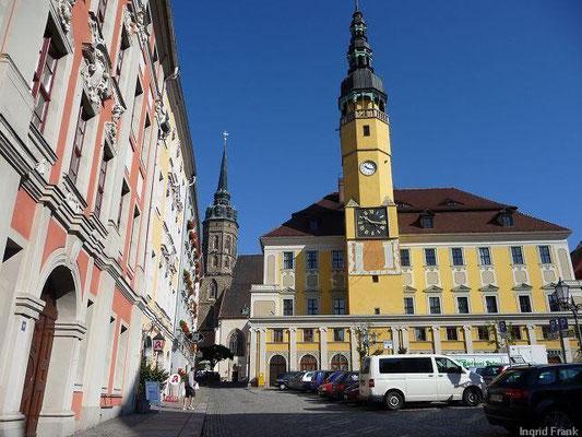 Bautzen/Oberlausitz, Rathaus mit Hauptmarkt