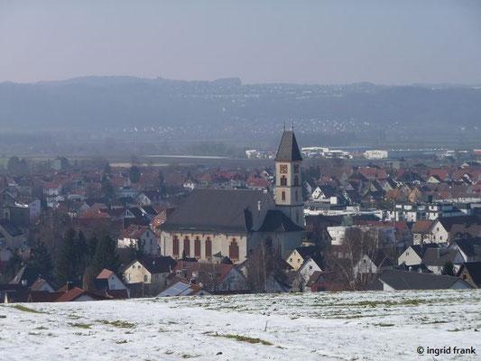 Blick auf Baienfurt von Köpfingen her