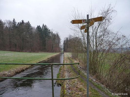 Am Kanal im Baienfurter Wald Richtung West