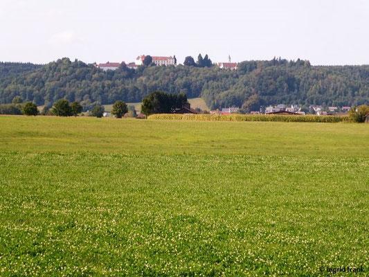 Blick zurück auf Schloss Zeil