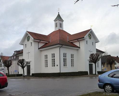Betsaal der Brüdergemeinde am Saalplatz im Zentrum Wilhelmsdorfs