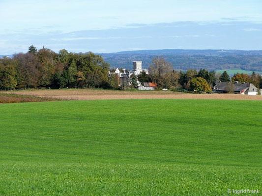 Blick auf Schloss Benzenhofen