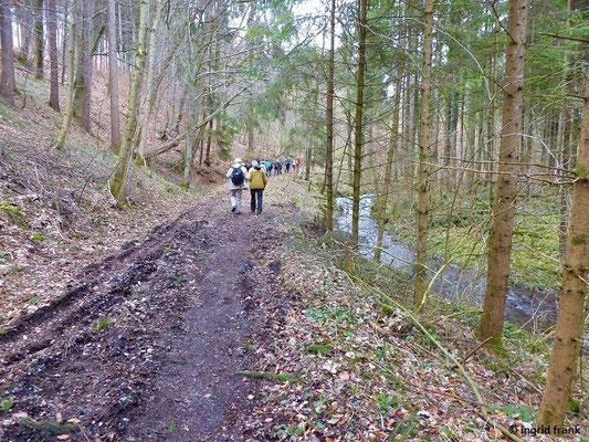 Den Furtbach aufwärts Richtung Katzheim