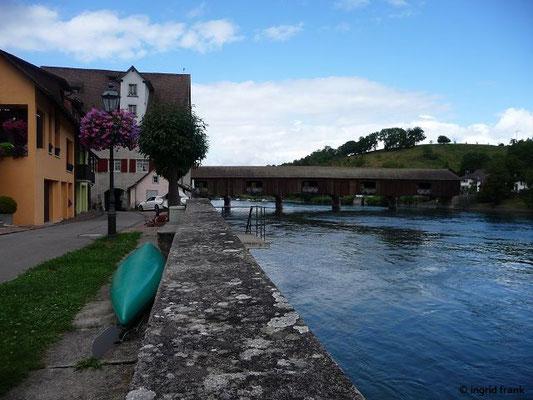 Gedeckte Holzbrücke nach Gailingen