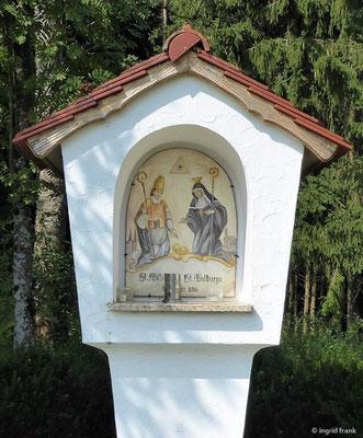 Bildstock Hl. Willibald und Hl. Notburga in Schambach