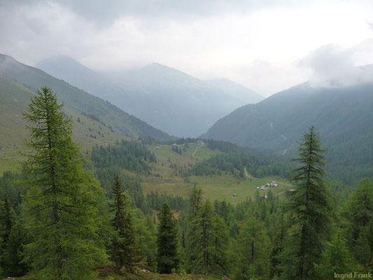 Blick von der Wallner Hütte zum Fraganter Schutzhaus