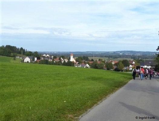 Blick Richtung Bad Wurzach, im Vordergund Haidgau