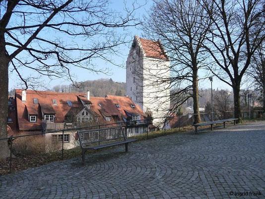 Ravensburg, das Obertor vom Mehlsack-Plateau aus gesehen