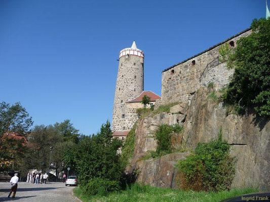"""Bautzen, """"Alte Wasserkunst"""", von der Spree aus gesehen"""