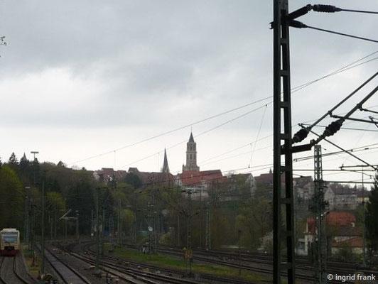 Die Altstadt vom Bahnhof her gesehen