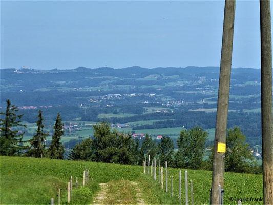 Blick Richtung Oberschwaben (linksoben kann man die Waldburg erkennen)