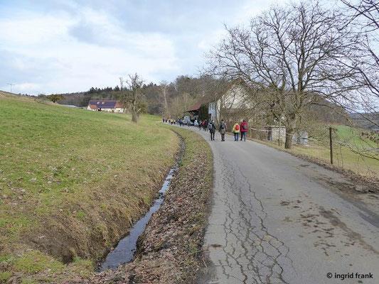 Auf der Annabergstraße Richtung Stöcklis