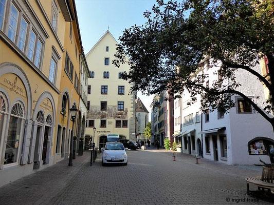 Blick von der Zollernstraße zum Hohen Haus und Stephanskirche